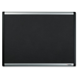 """Lorell® Non-Magnetic Mesh Fabric Bulletin Board, 36"""" x 48"""", Aluminum Frame With Silver Finish"""