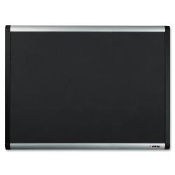 "Lorell® Mesh Fabric Covered Bulletin Board, 24"" x 36"", Black"