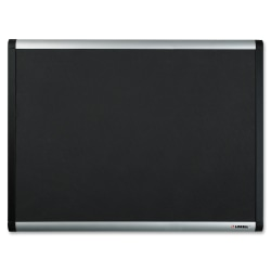 "Lorell® Mesh Fabric Covered Non-Magnetic Bulletin Board, 24"" x 36"", Aluminum Frame With Black Finish"