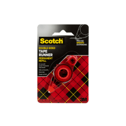 """Scotch® Adhesive Dot Roller Refill, 5/16"""" x 49"""", Clear"""