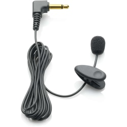Philips Clip-on Tie Clip Lapel Microphone LFH9173 - 4 ft - 50 Hz to 20 kHz - 66 dB - Omni-directional - Lapel
