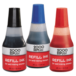 2000 PLUS® Self-Inking Stamp Refill Ink, 1 Oz, Blue