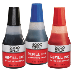 2000 PLUS® Self-Inking Stamp Refill Ink, 1 Oz, Black