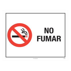 """ComplyRight™ Federal Specialty Posters, No Smoking, Spanish, 8 1/2"""" x 11"""""""
