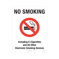 """ComplyRight Federal Specialty Posters, English, No Smoking Or E-Smoking, 8 1/2"""" x 11"""""""