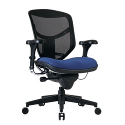 WorkPro® Quantum 9000 Series Ergonomic Mesh/Premium Fabric Mid-Back Chair, Royal/Black