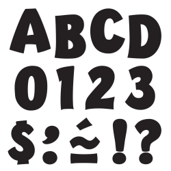 """TREND Ready Letters®, Playful Uppercase, 2"""", Black, Pre-K - Grade 12, Pack Of 140"""