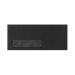 """LUX Window Envelopes With Moisture Closure, #10, 4 1/8"""" x 9 1/2"""", Midnight Black, Pack Of 500"""