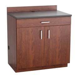 Safco® Modular Hospitality Base Cabinet, 2-Door/1-Drawer, Mahogany/Rustic Slate
