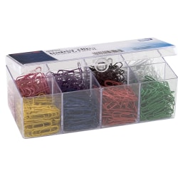 OIC® Paper Clips, No. 2, 20-Sheet Capacity, Assorted Colors, Box Of 800 Clips