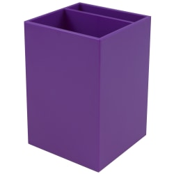 "JAM Paper® Pen Holder, 3-7/8""H x 2-3/4""W x 2-3/4""D, Purple"