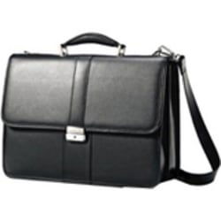 """Samsonite Leather Business Flapover - Notebook carrying case - 15.6"""" - black"""