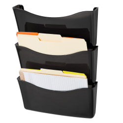 Rubbermaid® Unbreakable Wall Files, Letter Size, Pack Of 3