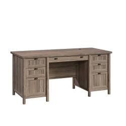 "Sauder® Costa 66""W Executive Desk,Washed Walnut"