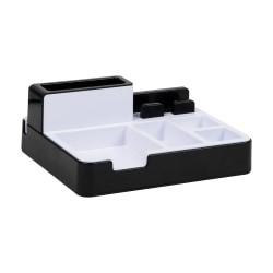"""Mind Reader USB Port Desk Organizer, 4-1/2""""H x 8-1/2""""W x 8-1/4""""D, Black"""