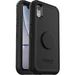 OtterBox Otter + Pop Defender Series for iPhone XR - For Apple iPhone XR Smartphone - Black - Drop Resistant, Bump Resistant, Dirt Resistant, Dust Resistant, Lint Resistant - Polycarbonate, Synthetic Rubber