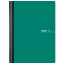 "Office Depot® Brand Poly Composition Book, 7 1/2"" x 9 3/4"", College Ruled, 160 Pages (80 Sheets), Green"