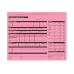 """ComplyRight Confidential Personnel Pocket Files, 11 3/4"""" x 9 1/2"""", Pink, Pack Of 25"""