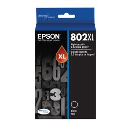 Epson® 802 DuraBrite® Ultra High-Yield Black Ink Cartridge, T802XL120-S