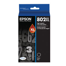 Epson® DuraBrite® Ultra T802XL120-S High-Yield Black Ink Cartridge