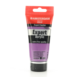 Amsterdam Expert Acrylic Paint Tubes, 75 mL, Permanent Violet Opaque, Pack Of 2