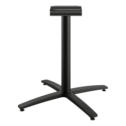 """HON Between X-Base, Seated Height - Black X-shaped Base - 29.50"""" Height"""