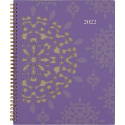 """Cambridge® Vienna Weekly/Monthly Planner, 8-1/2"""" x 11"""", Purple, January To December 2022, 122-905"""