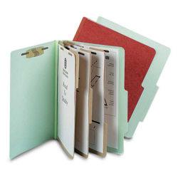 Pendaflex® Pressboard 8-Fastener Classification Folder, Letter Size, Earth Red, Box Of 10