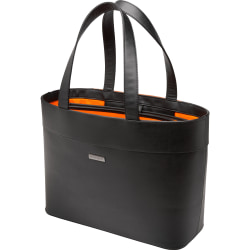 "Kensington Jacqueline K62614WW Carrying Case (Tote) for 12"" to 15.6"" Notebook - Black - Damage Resistant, Drop Resistant - Faux Leather - Handle - 13.8"" Height x 19.7"" Width x 12.6"" Depth"
