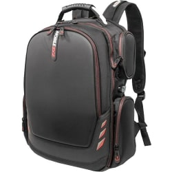 "Mobile Edge Core Gaming 17.3"" to 18"" ScanFast Backpack with Molded Front Panel - Notebook carrying backpack - 17.3"" - 18.4"" - black with red trim"