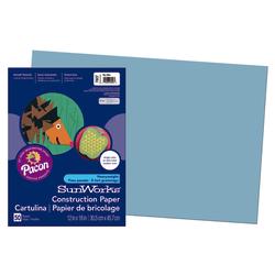 "SunWorks® Construction Paper, 12"" x 18"", Sky Blue, Pack Of 50"