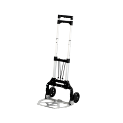 "Safco® Stow & Go Cart™ Lightweight Hand Truck, 110 Lb. Capacity, 5"" Wheels, Gray"