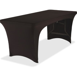 "Iceberg Stretch Fabric Table Cover, 72"" x 30"", Black"
