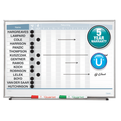 "Quartet® Matrix® Magnetic Dry-Erase In/Out Board, 23"" x 16"", Silver Aluminum Frame"