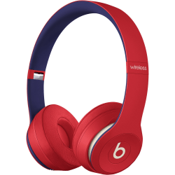 Beats by Dr. Dre Solo3 Wireless Headphones - Beats Club Collection - Club Red - Stereo - Wireless - Bluetooth - Over-the-head - Binaural - Circumaural - Red