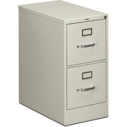 "HON® 510 25""D Vertical 2-Drawer File Cabinet, Metal, Light Gray"