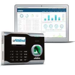"uAttend™ Biometric Time Clock System, BN6500, 5"" x 7"" x 2"", Black"