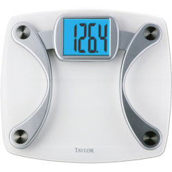Taylor 7568 Glass Electronic Scale - 440 lb / 200 kg Maximum Weight Capacity - Silver