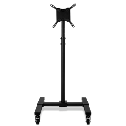 "Mount-It Height-Adjustable Mobile TV Stand For 13"" - 42"" Screens, Black"