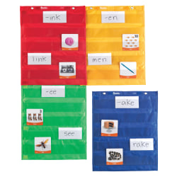 """Learning Resources Magnetic Pocket Chart Squares, 17"""" x 14"""", Multicolor, Pre-K - Grade 5, Pack Of 4"""