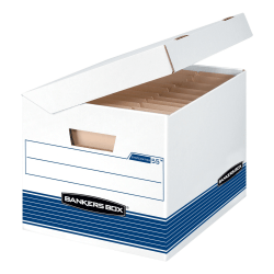 "Bankers Box® Systematic™ Storage Boxes, Letter/Legal Size, 10 1/4"" x 13"" x 16"", 35% Recycled, Woodgrain, Case Of 12"
