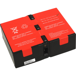 ABC RBC124 UPS Repacement Battery for APC - 9000 mAh - 12 V DC - Lead Acid - Maintenance-free/Sealed - Hot Pluggable - Hot Swappable - 3 Year Minimum Battery Life - 5 Year Maximum Battery Life