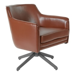 Office Star™ Faux Leather Guest Chair, Gray