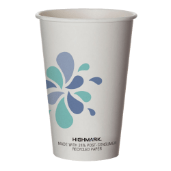 Highmark® Hot Coffee Cups, 16 Oz, White, Pack Of 50