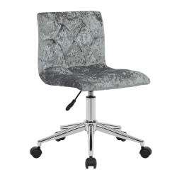 Glamour Home Amali Office Chair, Silver Gray