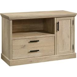 """Sauder® Aspen Post Credenza-Style 47""""W Lateral File Cabinet, Prime Oak"""