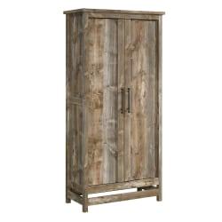 "Sauder® Granite Trace 72""H Storage Cabinet, Rustic Cedar"