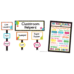 Carson-Dellosa School Pop Classroom Management Bulletin Board Set, Multicolor, Grades K-5