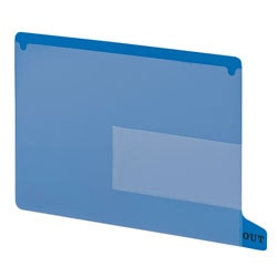 Smead® Durable Poly End-Tab Out Guides, Letter Size, Blue, Pack Of 25
