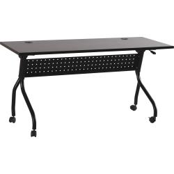 "Lorell® Flip Top Training Table, 48""W, Espresso/Black"
